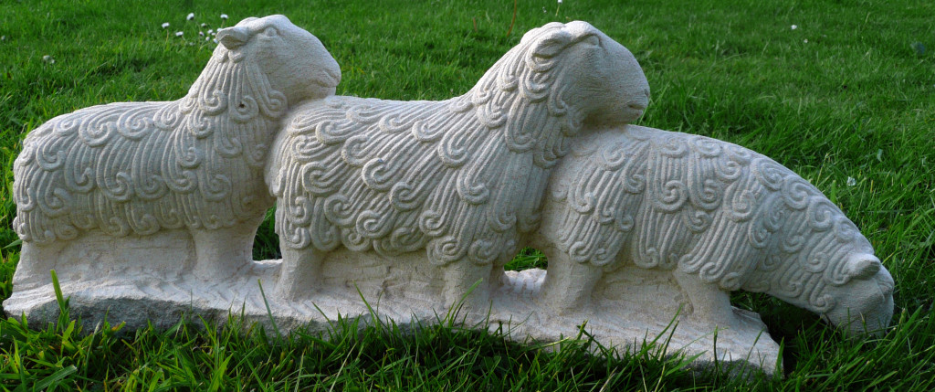 3 Sheep. Ancaster limestone. 2011.
